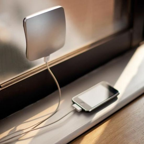 Charge your phone anywhere with this solar window charger.
