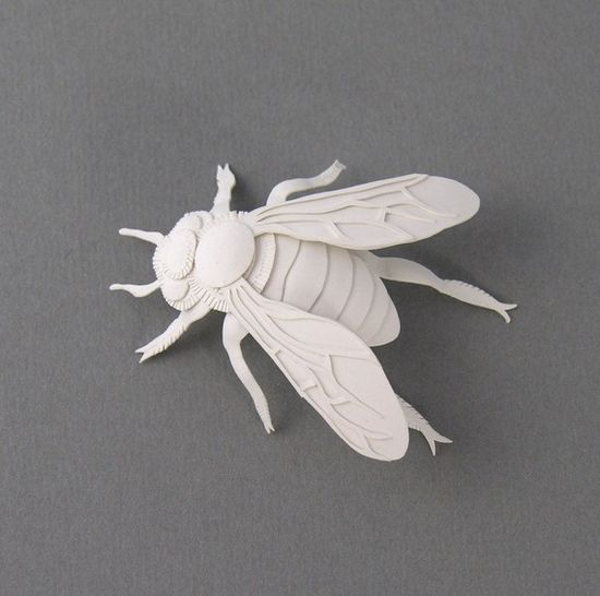 Bee Miniature Paper Sculpture by elsita on Etsy, $99.00