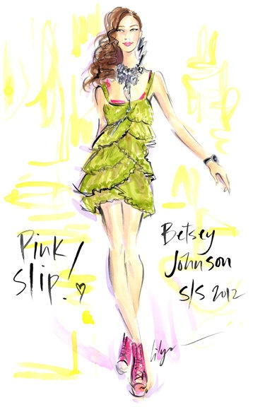 Pink Slip Jennifer Lilya Fashion Illustration by jenniferlilya, $475.00