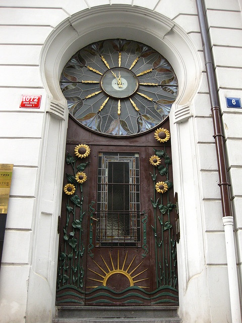 Art Nouveau Door, Prague