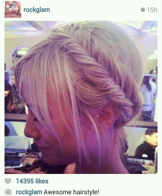 Fishtail braided hair