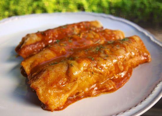 Beef and Bean Enchiladas