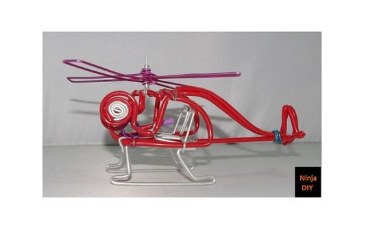 Creative handmade helicopter model aircraft aluminum by NinjaDIY, $15.00