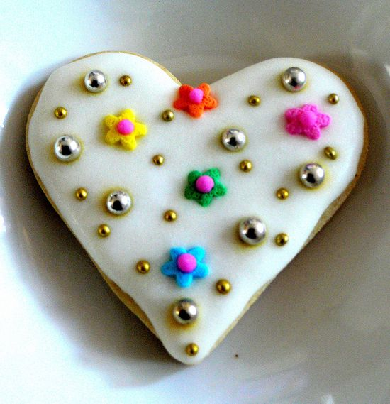 Beaded Cookie Heart