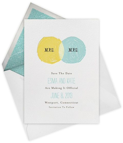 #same-sex wedding #stationery by @Paperless Post! #lesbian #wedding
