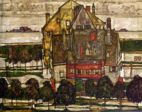E. Schiele, landscape