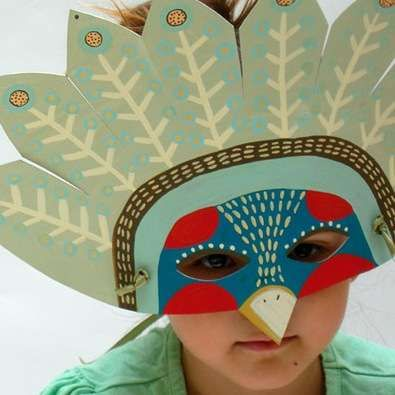 Paper Animal masks - this would be a fun kid project to try to replicate.