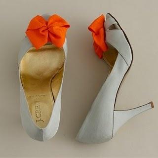 orange wedding shoes?