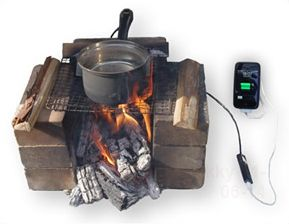 a pot that has a usb port that charges your cell phone...in case of power outage or primitive camping.
