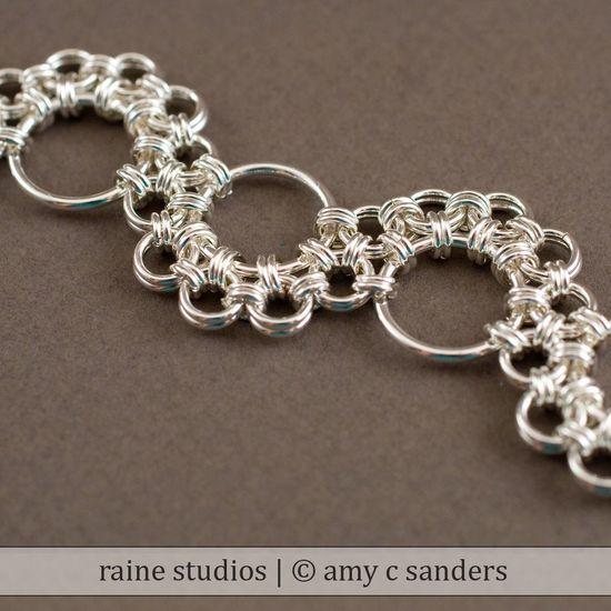 Shenandoah Chainmaille Bracelet Handmade Sterling Silver 925 chain maille mail chainmail. $170.00, via Etsy. - beautiful