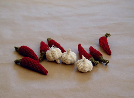Chili pepper. Crochet kitchen decor Crochet by YarnBallStories