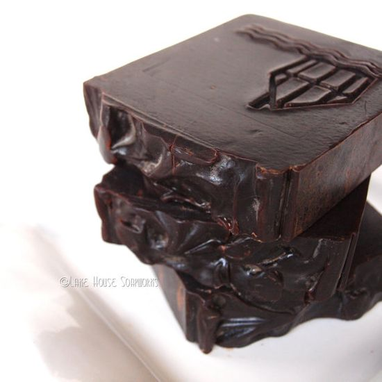 Chocolate Goat's Milk Cold Process Soap with by LakeHouseSoapWorks,