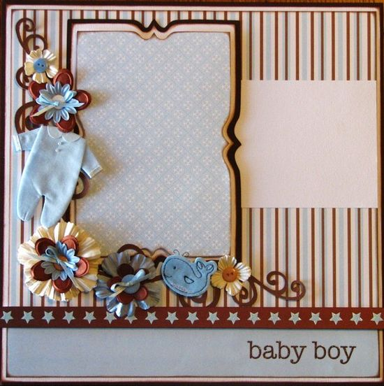 baby boy scrapbook page layout ideas