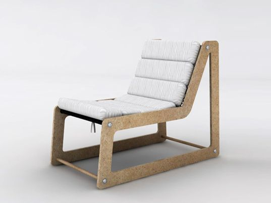 Chair Made from recycled wood waste
