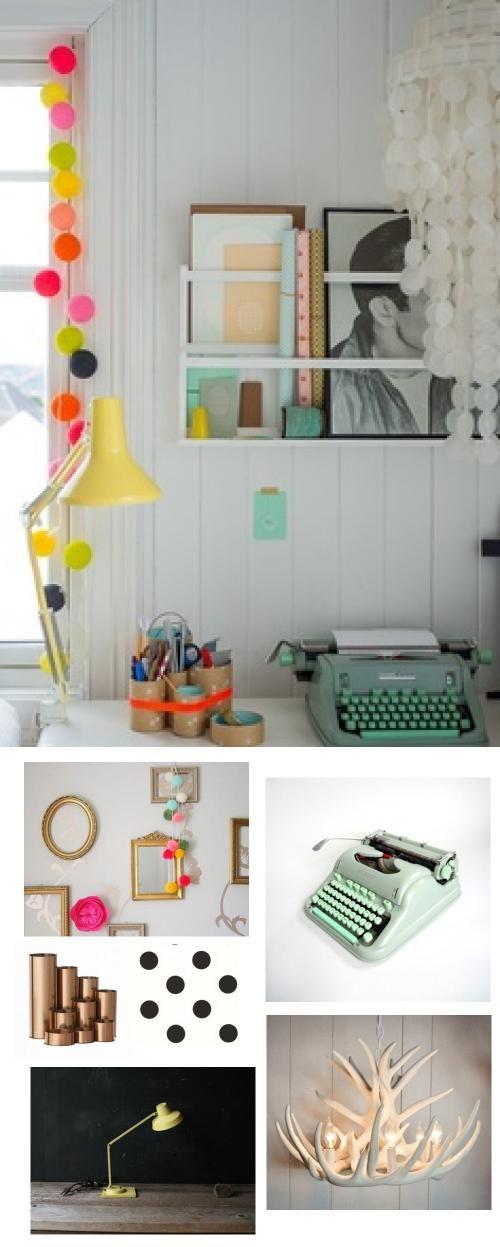 #bright #decor #desk #workspace #office #design
