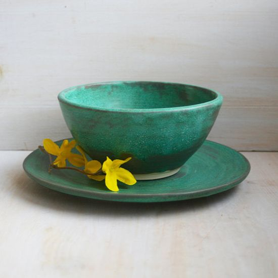 Ceramic Bowls Set of Four Rustic Handmade Pottery by sheilasart