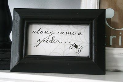..along came a spider!