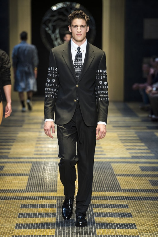 #Suit - Versace Men's Spring Summer 2013