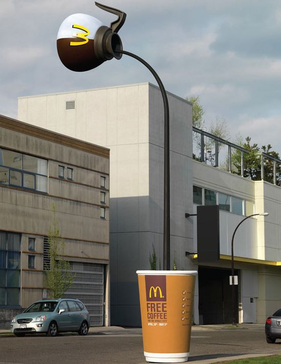 McDonald's coffee advertising