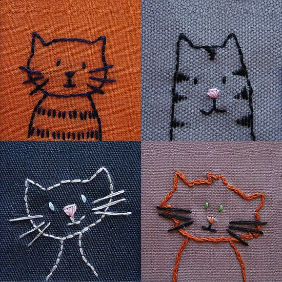Kitty embroidery patterns