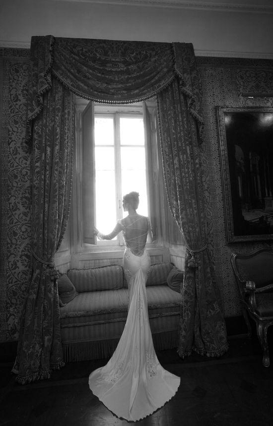 Backless mermaid gown by Inbal Dror