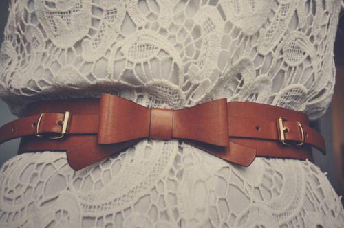 bow belt. LOVE