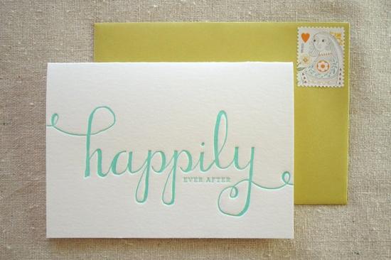 happily letterpress card
