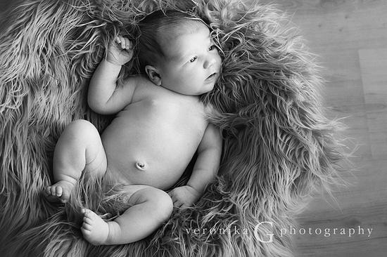 newborn - love the use of fur