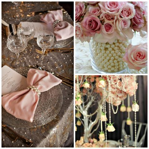 Pearls of Wisdom on itsabrideslife.com/Pearl Wedding Decor/Pearl Wedding Ideas