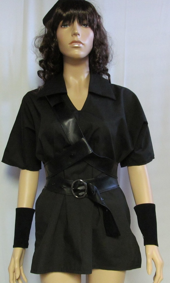 Dark Link Legend of Zelda Black Tunic Cosplay Costume Men's Women's Size S M L XL. $97.00, via Etsy.