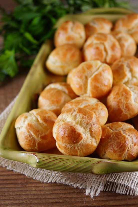 mini herbed goat cheese puffs for french fridays with dorie