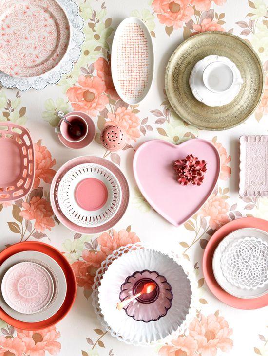 An assortment of plates /