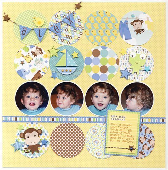 """Doodlebug's Snips & Snails """"Alex"""" Layout - Scrapbook.com"""