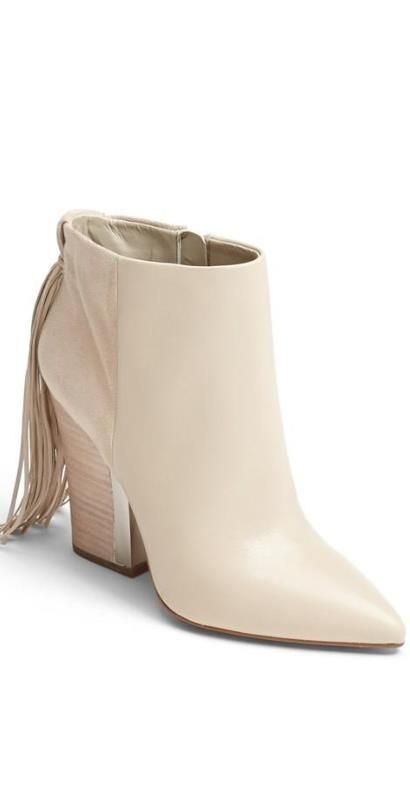 Booties with a fringe? Yes please!