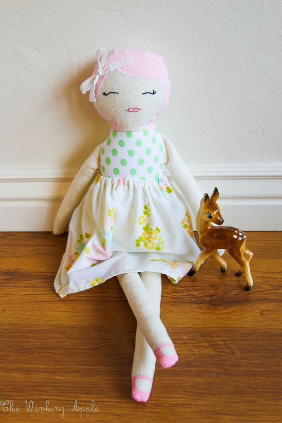 HANDMADE Rose Doll by TheWinkingApple on Etsy