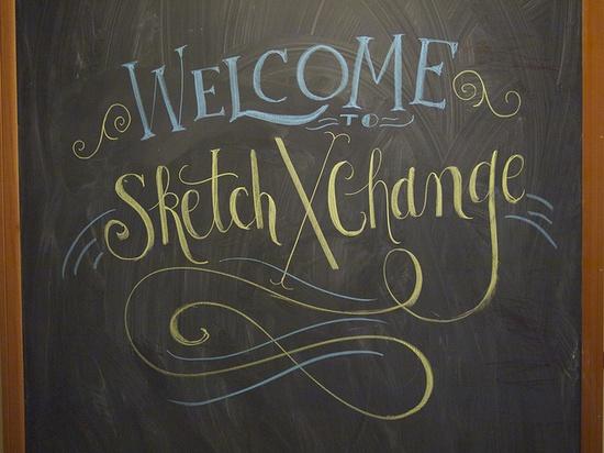 Some chalkboard lettering I did for my talk at SketchXChange