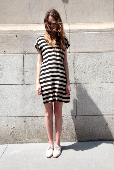 #beauty #clothes #outfit #woman #summer #spring #dress #striped #shoes #oxford