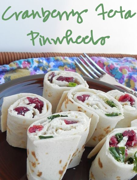 Cranberry Feta Pinwheel Appetizer