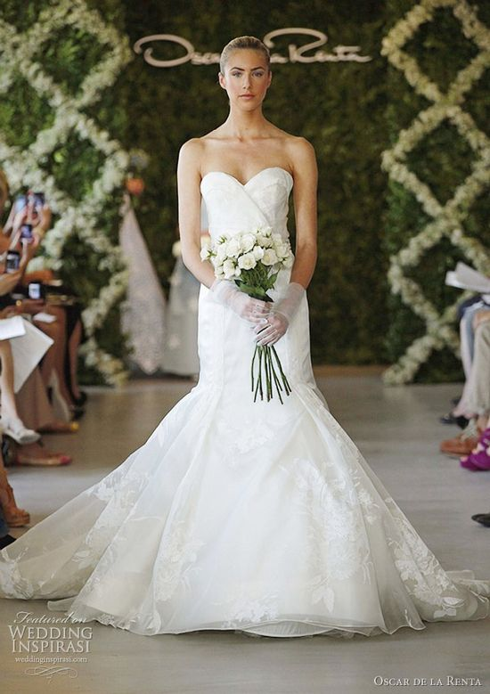 oscar de la renta bridal spring 2013 wedding gown