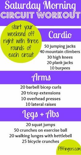 Circuit Workout - Cardio   Arms   Legs   Abs