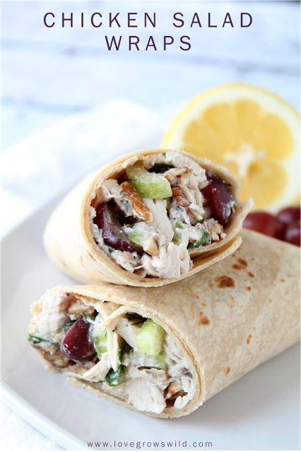 The perfect chicken salad recipe! Full of crunchy pecans and celery, tender chicken, and sweet grapes!