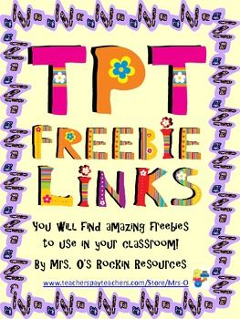 Enjoy hundreds of FREEBIES!  This booklet has direct links for free classroom ideas and printables!  Teachers from all grade levels have participated in this booklet exclusively for our wonderful buyer like you!!!