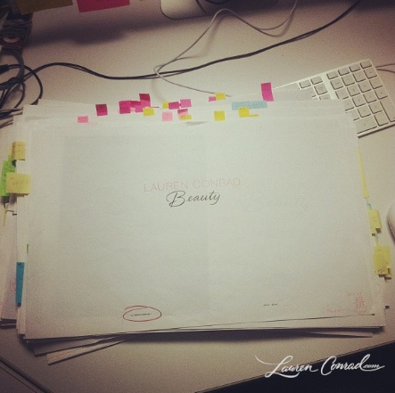 ...and done! can't wait to share my new book, lauren conrad beauty!