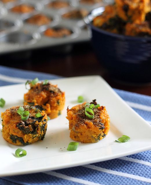 Sweet Potato Kale Bites by runningtothekitchen ##Sweet_Potato #Kale #runningtothekitchen