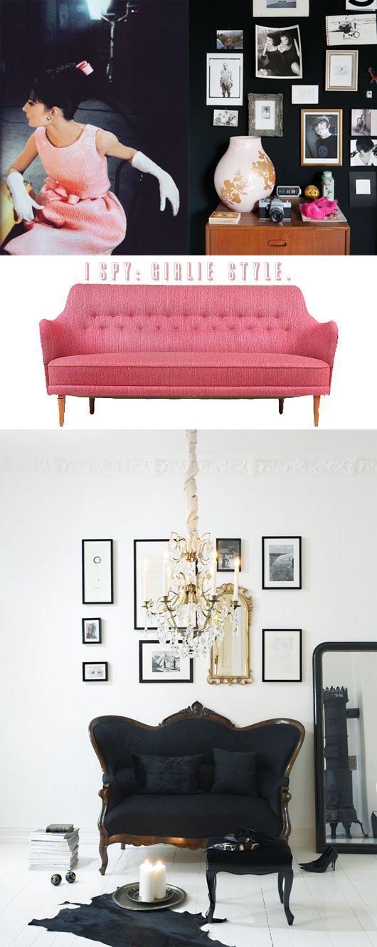 PINK COUCH! BLACK COUCH!