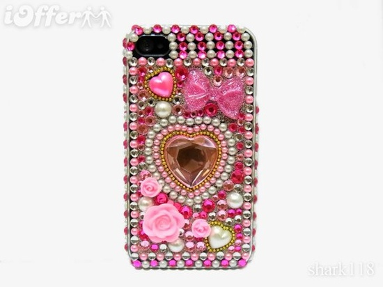 Bling Crystal Pink Diamond Case Cover ~ iPhone