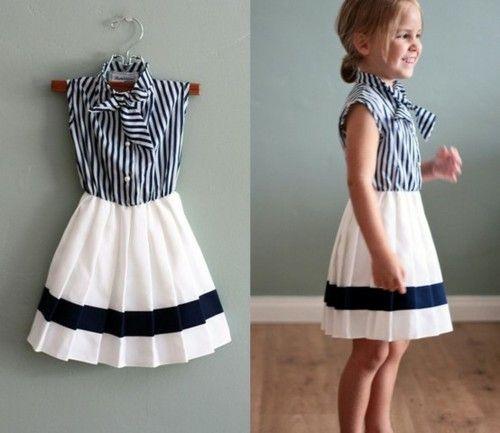 Cutest little girl nautical dress