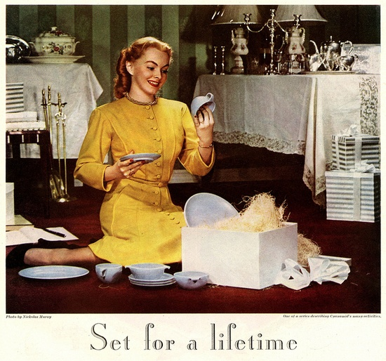 What a lucky new bride, she's set for life! #vintage #1940s #wife #bride #wedding #gifts #homemaker #housewife
