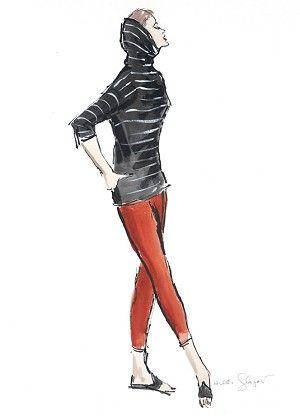 Rita c.1960 Fashion Illustration $75-395 vintage fashion