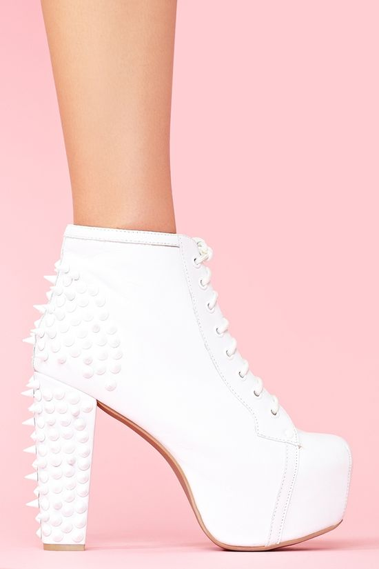 Spike Platform Boot in Whiteout